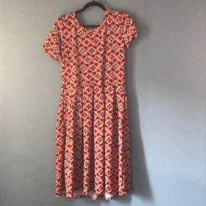 Lularoe geometric Amelia dress size large